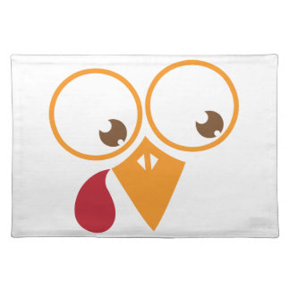 Cute turkey face cloth placemat