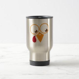 Cute turkey face travel mug