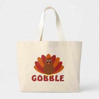 Cute Turkey Gobble Tote Bag