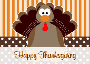 Cute happy thanksgiving cards for business family create your cute turkey happy thanksgiving card m4hsunfo