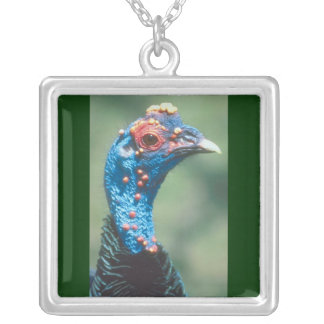 Cute Turkey Square Pendant Necklace