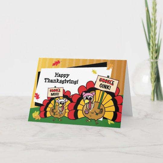 Cute Turkey Thanksgiving Card | Zazzle.com