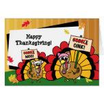 Cute Turkey Thanksgiving Card