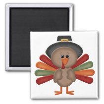 Cute Turkey Thanksgiving (customizable) Magnet