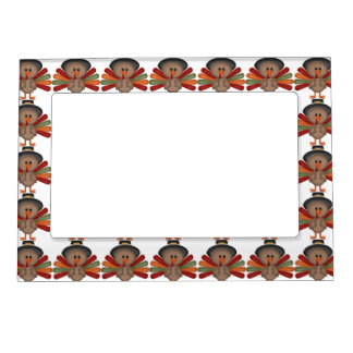 Cute Turkey Thanksgiving (customizable) Magnetic Frames