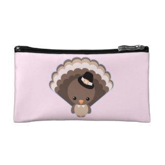 Cute Turkey Thanksgiving Day Cosmetic Bag