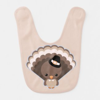 Cute Turkey Thanksgiving Day Bib
