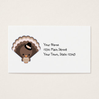 Cute Turkey Thanksgiving Day Business Card