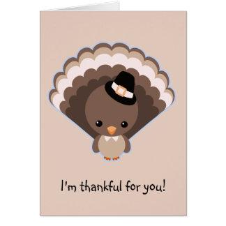 Cute Turkey Thanksgiving Day Card