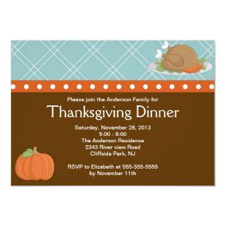 Cute Turkey Thanksgiving  Dinner Party Invitation