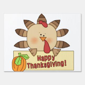 Cute Turkey Thanksgiving Yard Sign