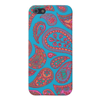 Cute Turquoise and Pink Paisley iPhone case
