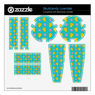 Cute turquoise baby chick easter pattern skins for skullcandy