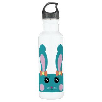 Cute Turquoise Bunny Bottle