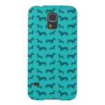 Cute turquoise dachshund pattern galaxy s5 covers