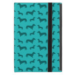 Cute turquoise dachshund pattern cases for iPad mini