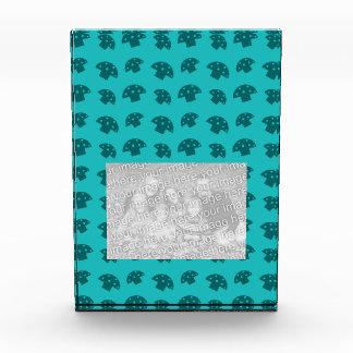 Cute turquoise mushroom pattern acrylic award