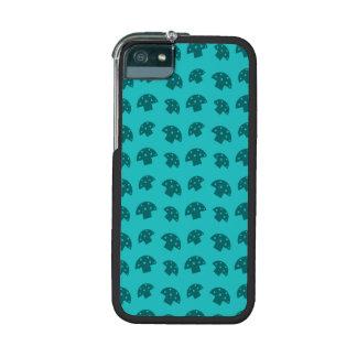 Cute turquoise mushroom pattern iPhone 5 case