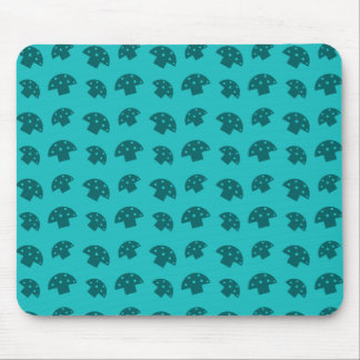 Cute turquoise mushroom pattern mouse pad