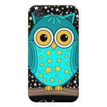 cute turquoise owl cover for iPhone 4