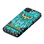 cute turquoise owl iPhone 4 case