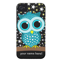 cute turquoise owl iPhone 4 Case-Mate case