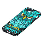 cute turquoise owl iPhone 5 cover
