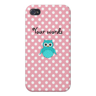 Cute turquoise owl case for iPhone 4
