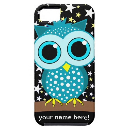 cute turquoise owl iPhone SE/5/5s case