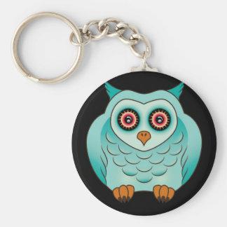 Cute Turquoise Owl Keychain