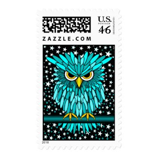 cute turquoise owl