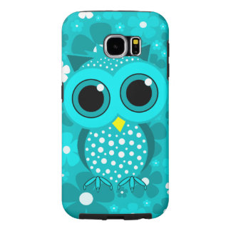 cute turquoise owl samsung galaxy s6 case