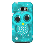 cute turquoise owl samsung galaxy s6 cases