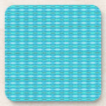 cute turquoise pattern design drink coaster