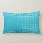 cute turquoise pattern design throw pillow