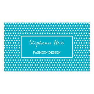 Cute Turquoise Polka Dot Girly Fashion Designer Business Card