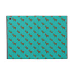 Cute turquoise reindeer pattern iPad mini cover