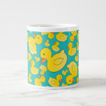 Cute turquoise rubber ducks extra large mugs
