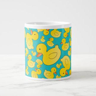 Cute turquoise rubber ducks large coffee mug