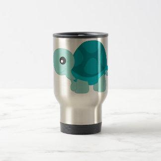 Cute Turquoise Tortoise 15 Oz Stainless Steel Travel Mug