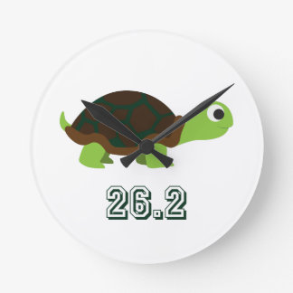 Cute Turtle 26.2 Round Clock