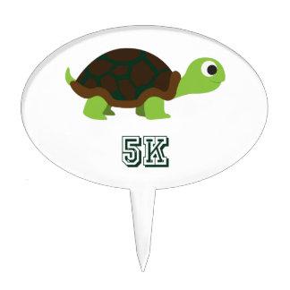 Cute Turtle 5K Cake Topper
