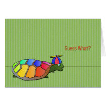 Cute Turtle April Fool's Day Card