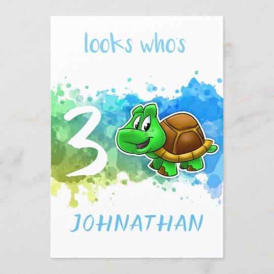 Cute Turtle Birthday Card Zazzle