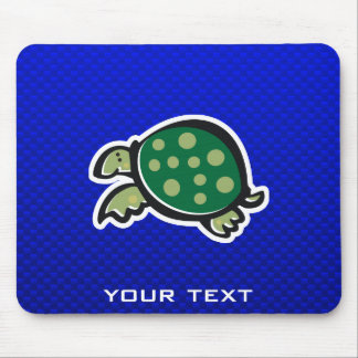 Cute Turtle; Blue Mouse Pad