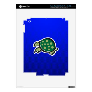 Cute Turtle; Blue iPad 3 Skin
