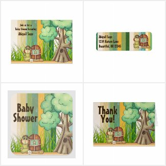 Cute Turtle Boys Baseball Baby Shower Collection