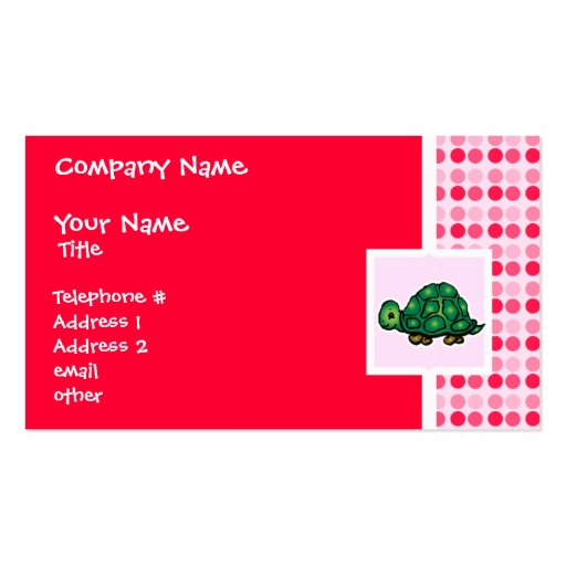 Cute Turtle Double-Sided Standard Business Cards (Pack Of 100)