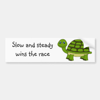 Cute Turtle Cartoon Bumper Sticker