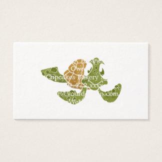 Cute turtle cartoon. business card